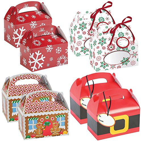 Christmas Holiday Gift and Treat Box Variety Pack - 40 Pieces by Parties Can Be Simple