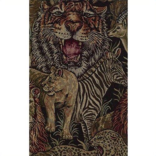 Animal Futon Print Covers - Blazing Needles Tapestry Full Size Futon Cover in Safari-9