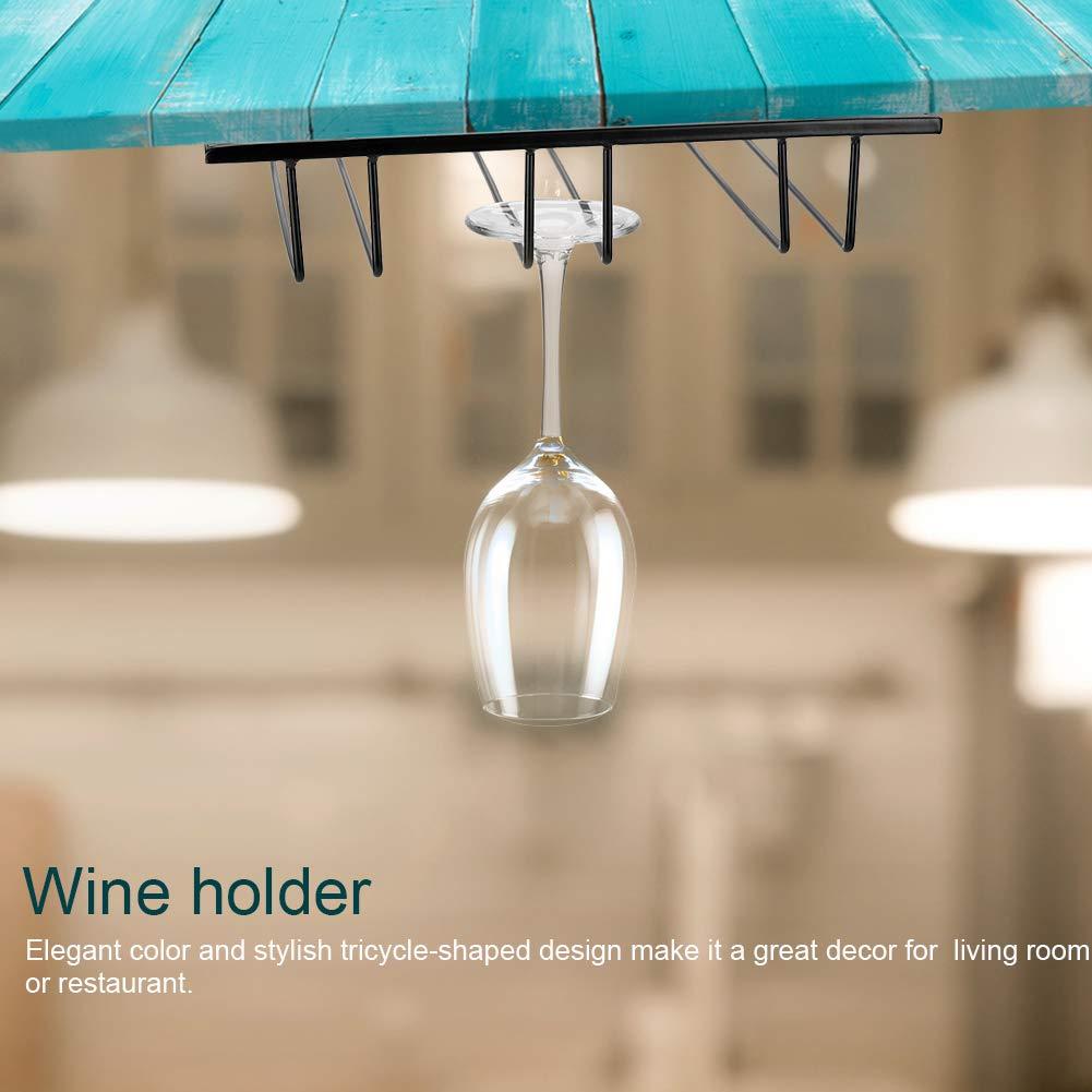 Stemware Wine Glass Hanger Rack Under Cabinet Modern Metal Wine Glass Cup Holder for Home Bar