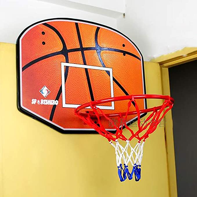 softneco Wall Mounted Basketball Hoop with Net,Indoor Outdoor Basketball Entertainment Toy,Mini Basketball Rim for Kids