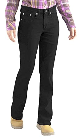 6347837e719 Dickies Womens Black Relaxed Fit Stretch Boot-Cut Jean at Amazon ...