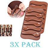 3 Pack X Spoon Chocolate Mold Silicone Mold Chocolate Fondant Tools Decoration Cupcake Baking (Ships From USA)