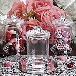 Efavormart 12 Pack 6oz Clear Plastic Candy Beverage Disposable Favor Jar Container With Clear Lid For Wedding Party Event
