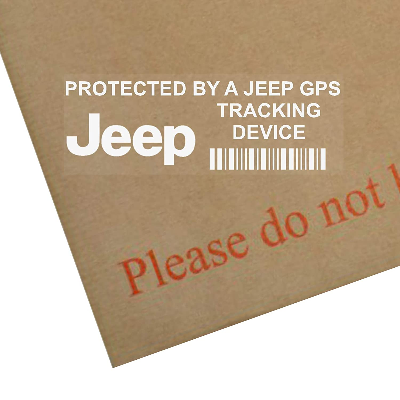 """5 Stück 87 x 30 mm große Fensteraufkleber PPJEEPGPS """"GPS Tracking Device Security"""" (mit Schriftzug in englischer Sprache), für Auto/Lieferwagen Platinum Place"""