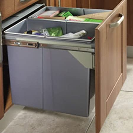 RECYCLE BIN PULL OUT KITCHEN INTEGRATED 600MM 90 LTR BASE UNIT ...
