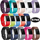 Wepro Fitbit Charge 2 Bands, Replacement Bands for Fitbit Charge 2 HR, Buckle, 15 Colors, Small