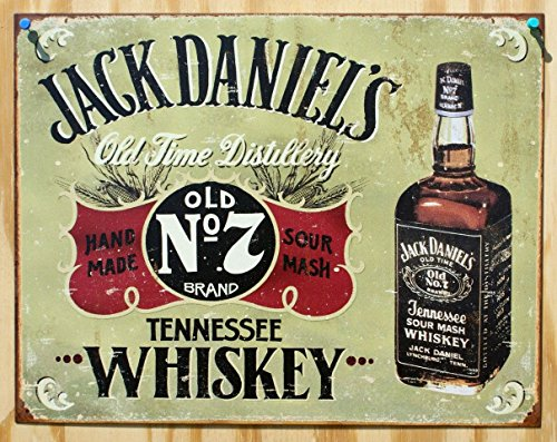 Jack Daniels - Hand Made tin sign 16