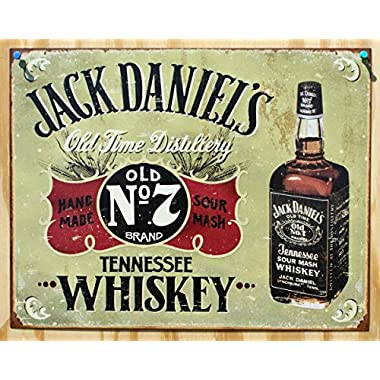 Jack Daniels - Hand Made tin sign 16  x 12.5  , 16x12