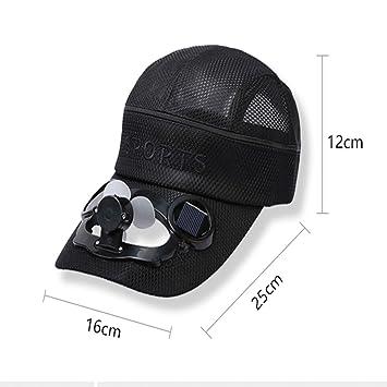 Kuqiqi Sombrero, Sombrero de ventilador solar recargable por USB ...