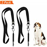 HiMo Dog Whistle Pet training Whistle to Stop Barking, Adjustable Pitch Ultrasonic training tool Silent Bark Control for Dogs-with Lanyard Strap