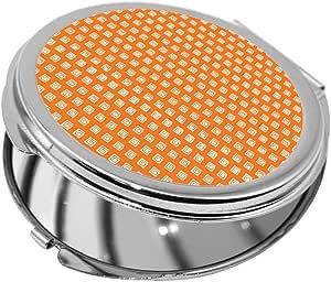 مرآة جيب، بتصميم زخرفة تراثية، شكل دائري