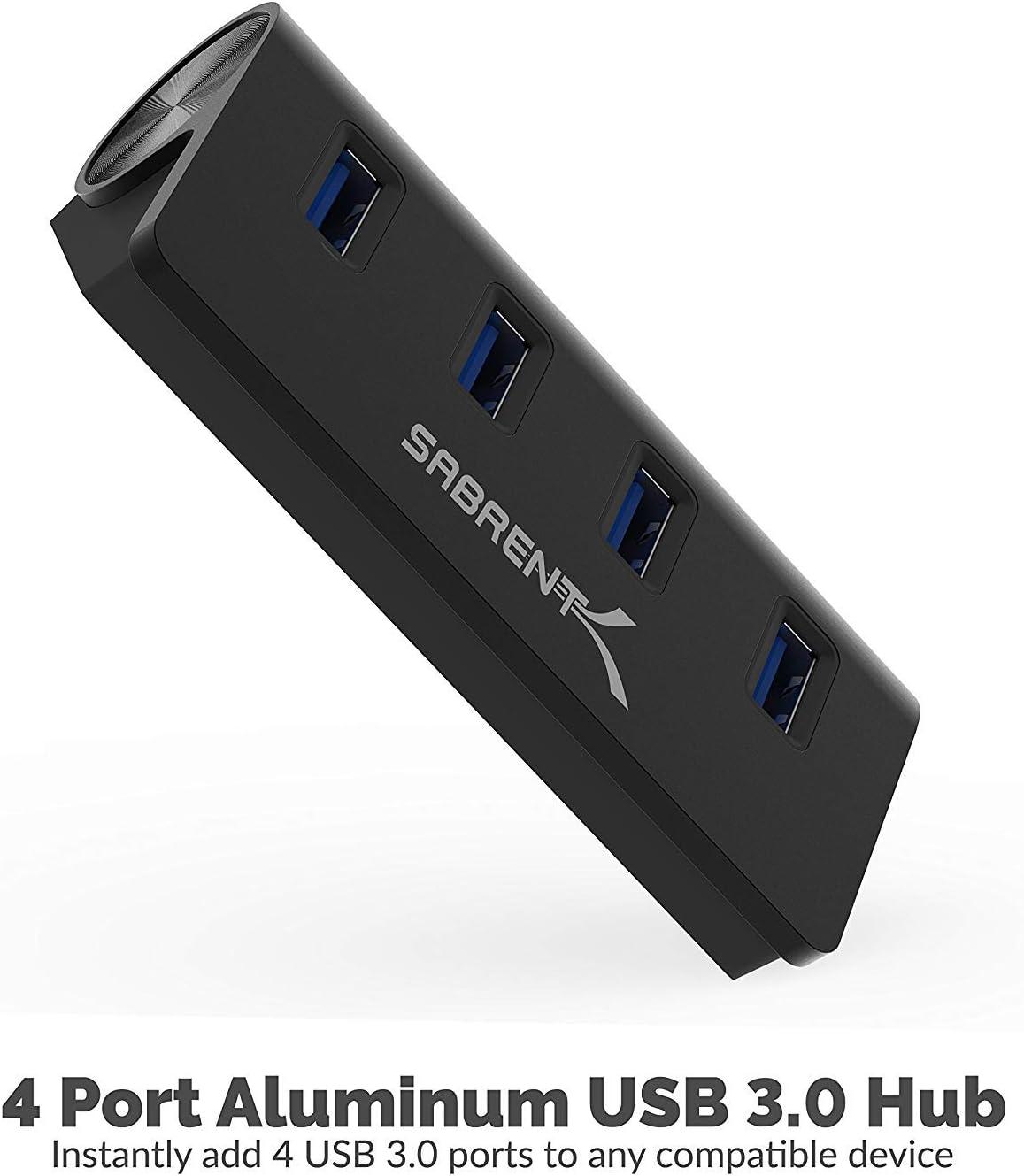 HB-MC3B-R Sabrent USB 3.0 4 Port Mac Hub-Black
