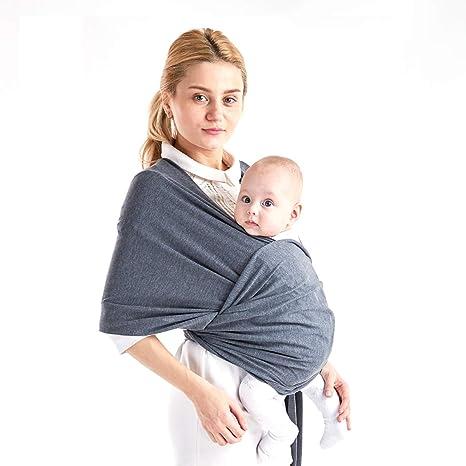 Porte bébé Housse d allaitement ajustable Housse bébé en coton Sling pour  bébé jusqu  18ec19b151b
