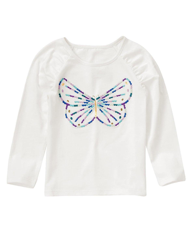 クレイジー8女の子服ホワイトTシャツ、蝶の前で& Circoブラックレギンス( 12 – 18 Months )   B06XR6Q79K