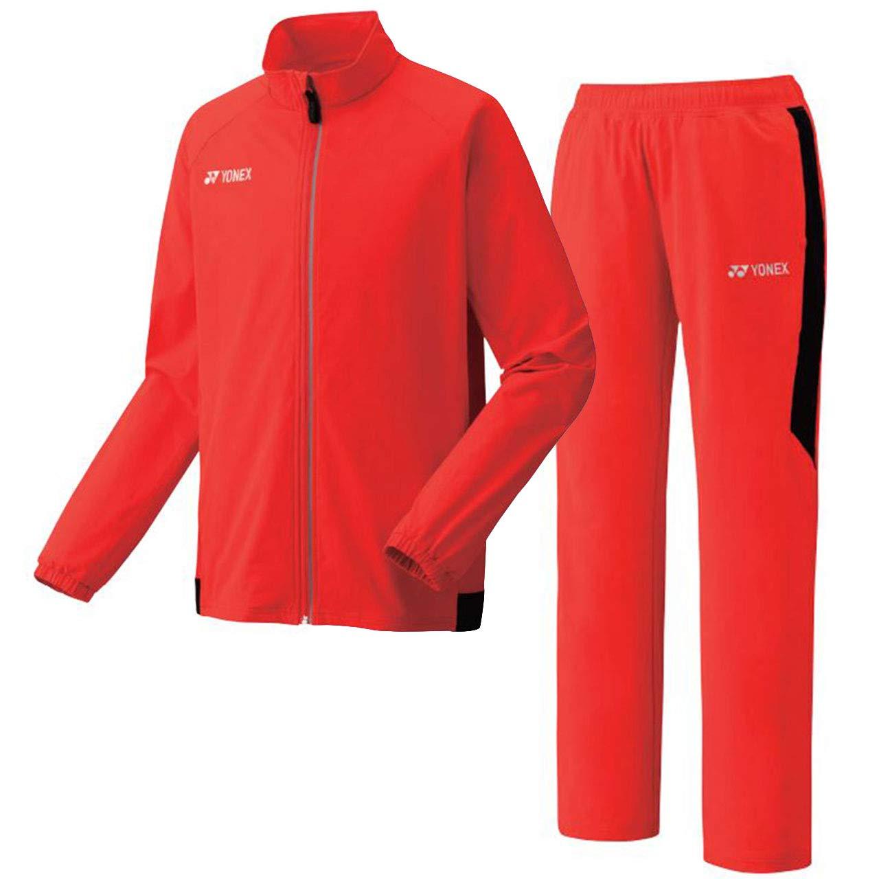 ヨネックス(YONEX) ウォームアップシャツ&パンツ(フィットスタイル) 上下セット(ファイヤーレッド) 50077-569-60077-569 M ファイヤーレッド B07Q7NQZ3J