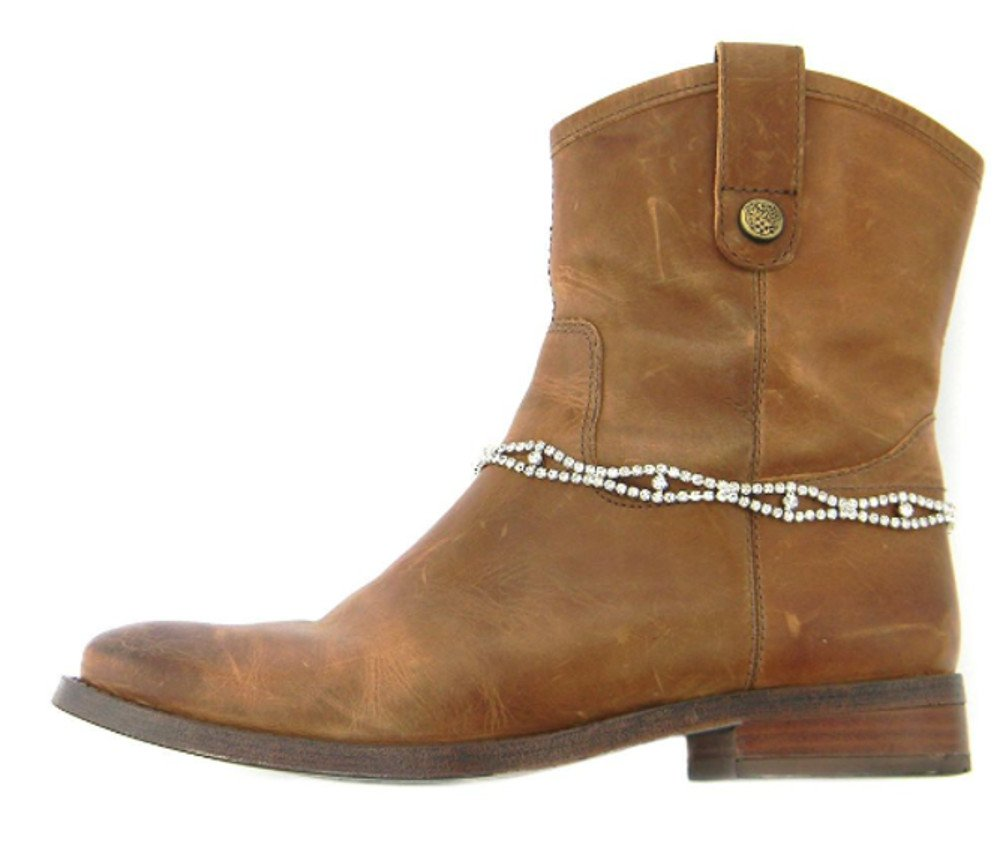 Roger Enterprises Anklet Boot Chain with Multiple Strands of Rhinestones in 8 Designer Fashion