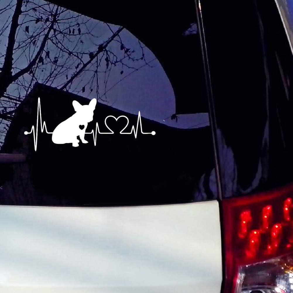 Oce180anYLV Bulldog Franc/és Coraz/ón Impacto Auto Ventana Parachoques Pegatinas Reflectantes Decorativa engomada
