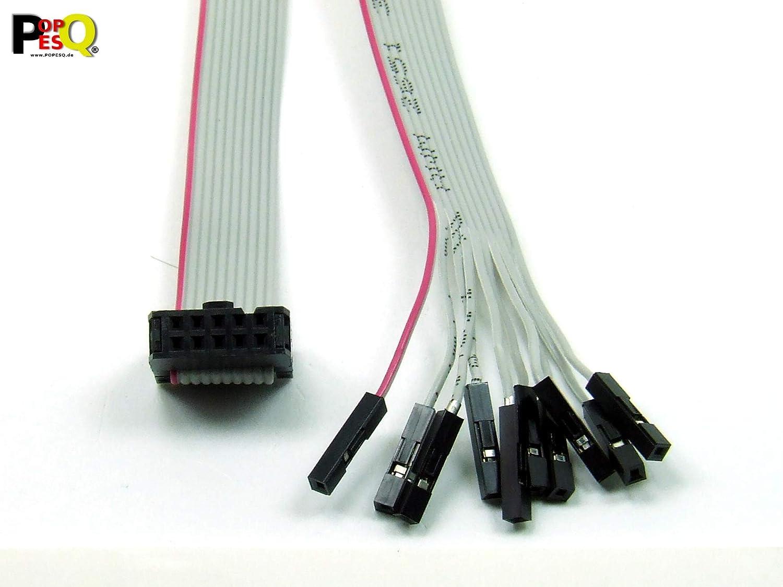 IDC Kabel DUPONT Mänlich 6 polig 30cm Flachbandkabel 2.54mm Verbinder #A2564