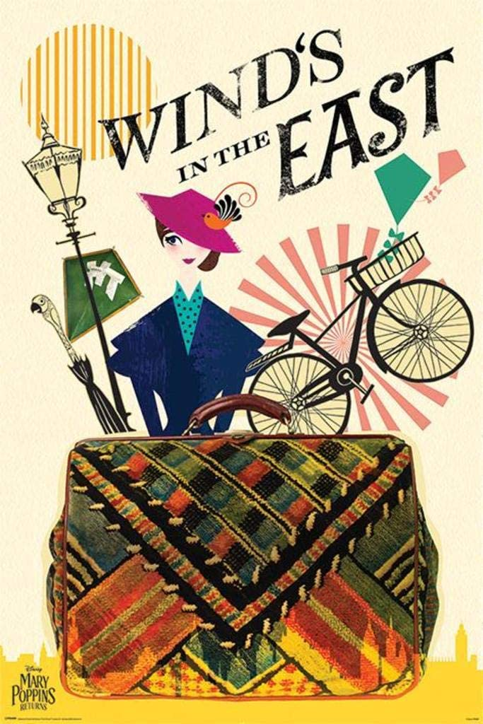 Pyramid International Mary Poppins Returns Wind in The East Movie Cool Wall Decor Art Print Poster 36x24