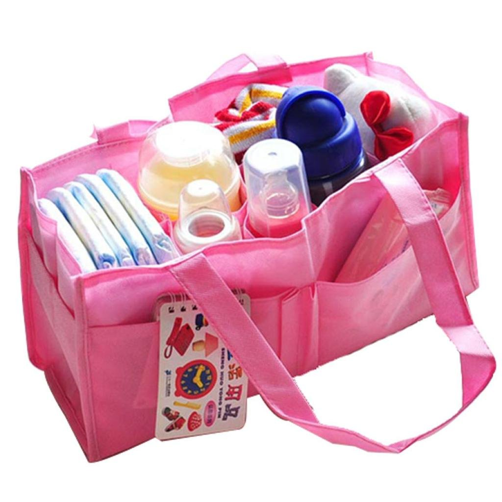 Pocciol Diaper Tote Bags, New Mummy Bottle Storage Convenient Multifunctional Separate Nappy Maternity Bag for Outgoing (A)