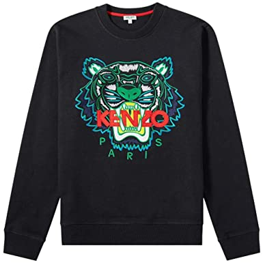 50b6144a Kenzo Mens Black Tiger-Embroidered Cotton Sweatshirt at Amazon Men's ...