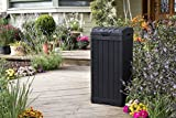Keter Baltimore 38 Gallon Trash Can with Lid and