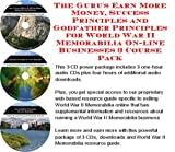 The Insider's How To Earn Extra Money, Marketing and Success Principles for World War II Memorabilia On-line Biz Package (3 CDs)