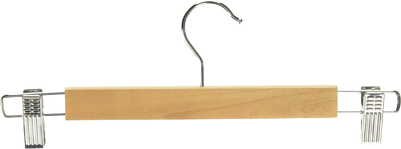 Whitmor GRADE A Natural Wood Skirt Hangers (Set of 5)