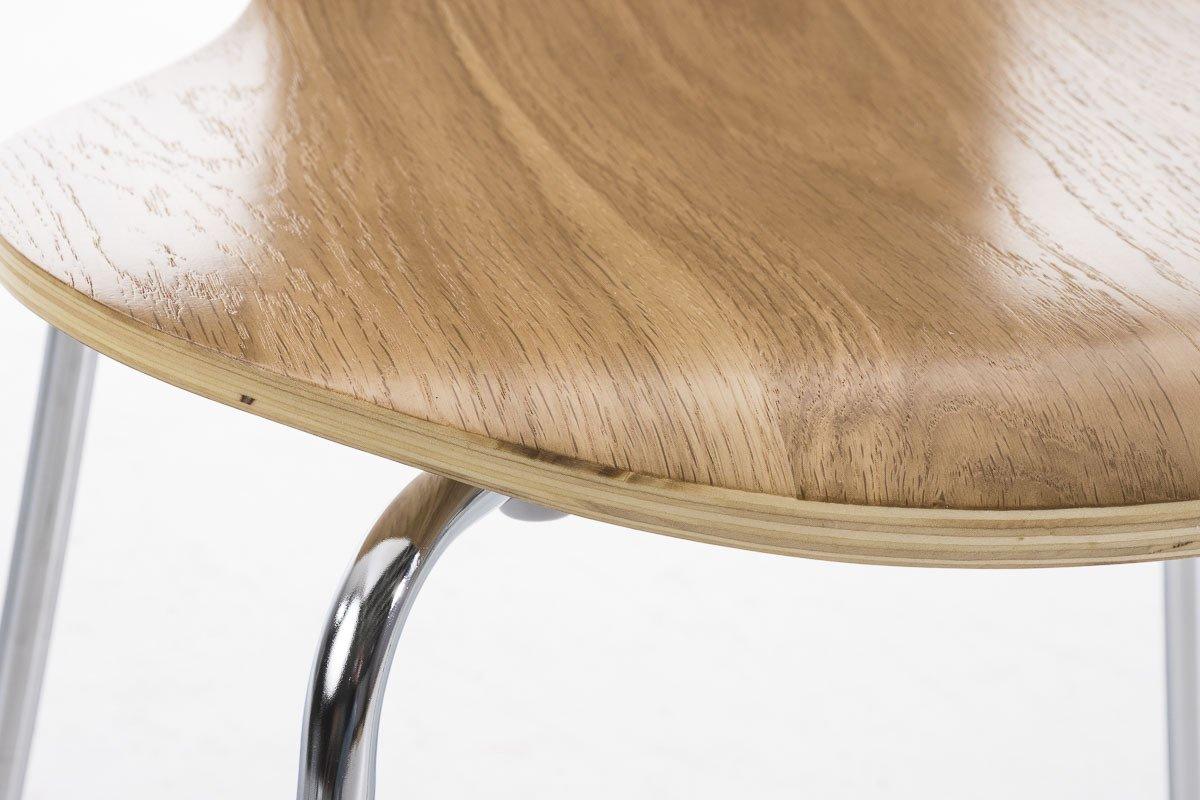 Sedia Ergonomica e Facile da Pulire CLP Set 2X Sedie Impilabili Diego in Legno Robusto Sedia Design Classico per Riunioni o Sale Arancione Sedia Conferenza Sedia Attesa Telaio in Metallo