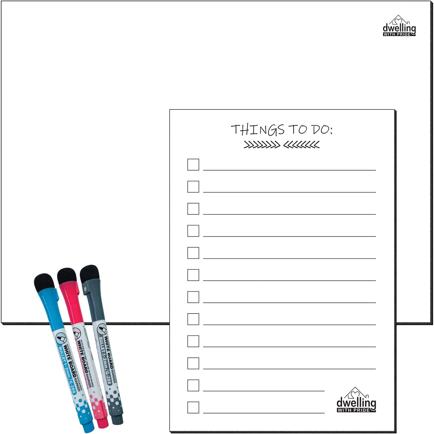 Magnetic Memo Pad /& Pencil Fridge Magnet Notes Board Travel Look Shopping List