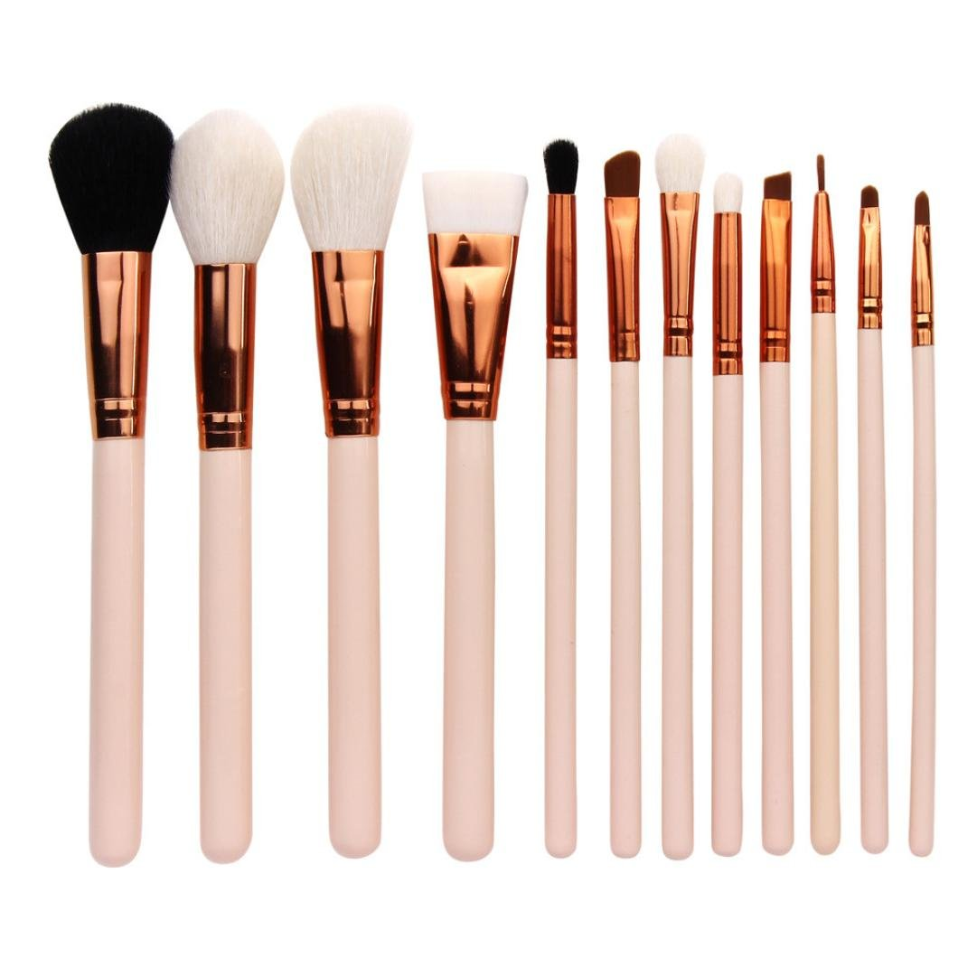 Ecurson 12PCS Cosmetic Makeup Brush Set, Soft Foudational Makeup Brush Eyeshadow Brush (A)