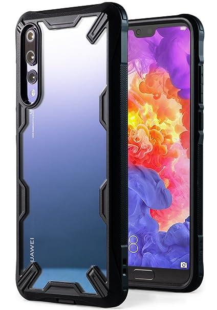 nuovo prodotto 60daa 84e73 Ringke Fusion-X Custodia Compatibile con Huawei P20 PRO (6.1'') Ergonomico  [Difesa Militare Testata] Protezione per Paraurti Posteriore TPU Resistente  ...