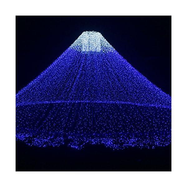 Ankway luci Stringa Solare, 200 LED 8 Modi Lunghezza 22M/72ft, Luci Energia Solare Impermeabili Interni e Esterni per Giardino Natale Matrimoni e Feste,Blu 5 spesavip