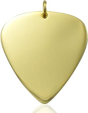 Solid 9 ct oro colgante de púa de guitarra sólo colgante de regalo ...