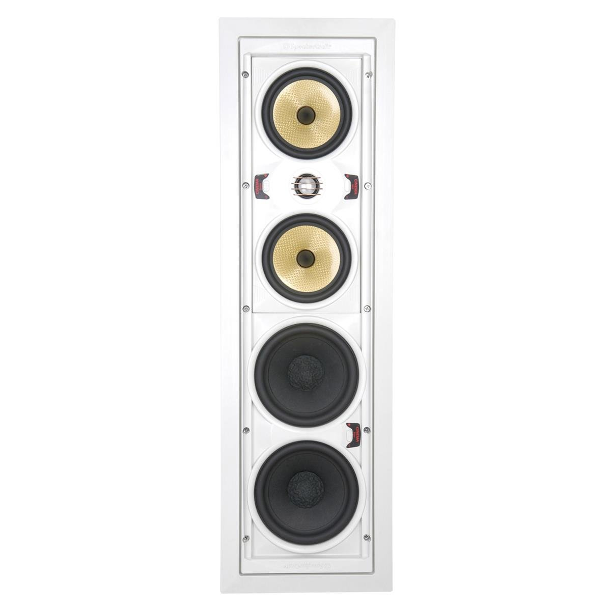 SpeakerCraft AIM Cinema 5 Single In-Wall Speaker - Each (White)
