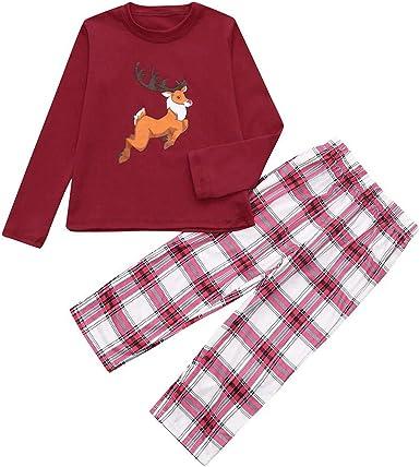 cinnamou Pijama Familiar NavideñO Pajamas Tops Estampado ...