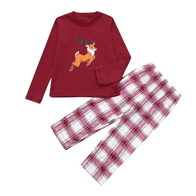 Ropa Conjunto de Pijamas Familiares de Navidad para Familia Padre y Madre y Blusa Manga Larga