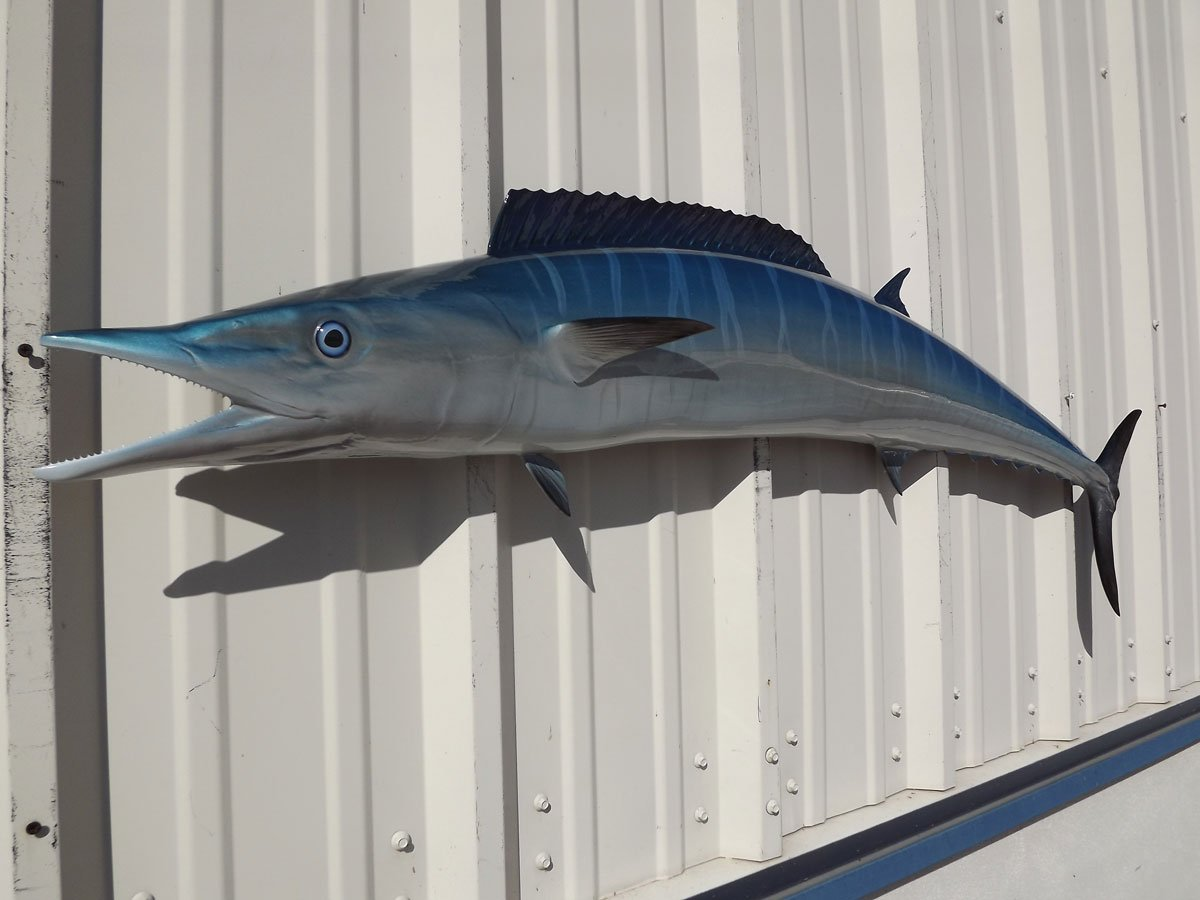 54'' Wahoo Half Sided Fish Mount Replica, Affordable Coastal Decor - Indoors Or Outside. by Mount This Fish Company (Image #2)