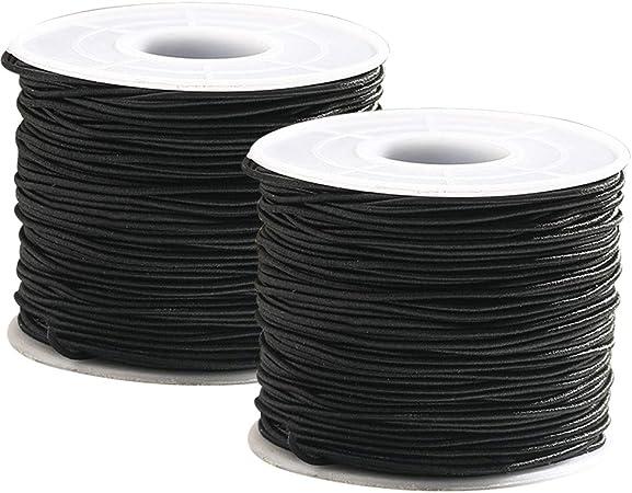 Cordón Elástico Redondo Blanco 1mm ancho-se vende por 2 metros