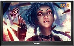 Prechen,Portable HDMI Monitor 13.3 inch 1920x1080HDMI VGA Gaming Monitor for PS3 PS4 WiiU Xbox360 Raspberry Pi 3 2 1 Windows 7 8 10 System Home Office,Build in Speaker