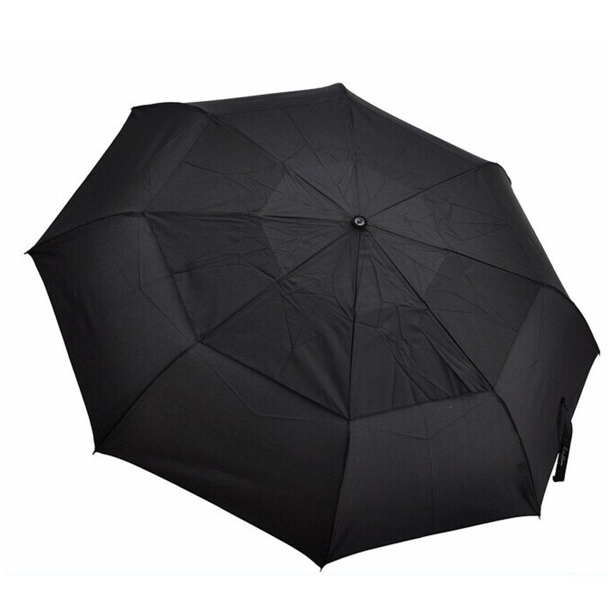 メンズクラシックブラック自動折りたたみLarge Travel Umbrella with double-canopy   B0177F1XJW