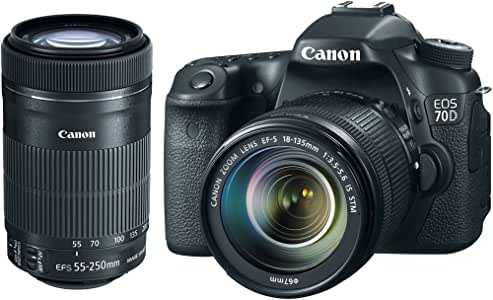 Canon 8469B016L3-KIT Eos 70d Camera W/ef-s 18-135mm Is & Ef-s 55-250 Stm Xtra Lens [8456b002]