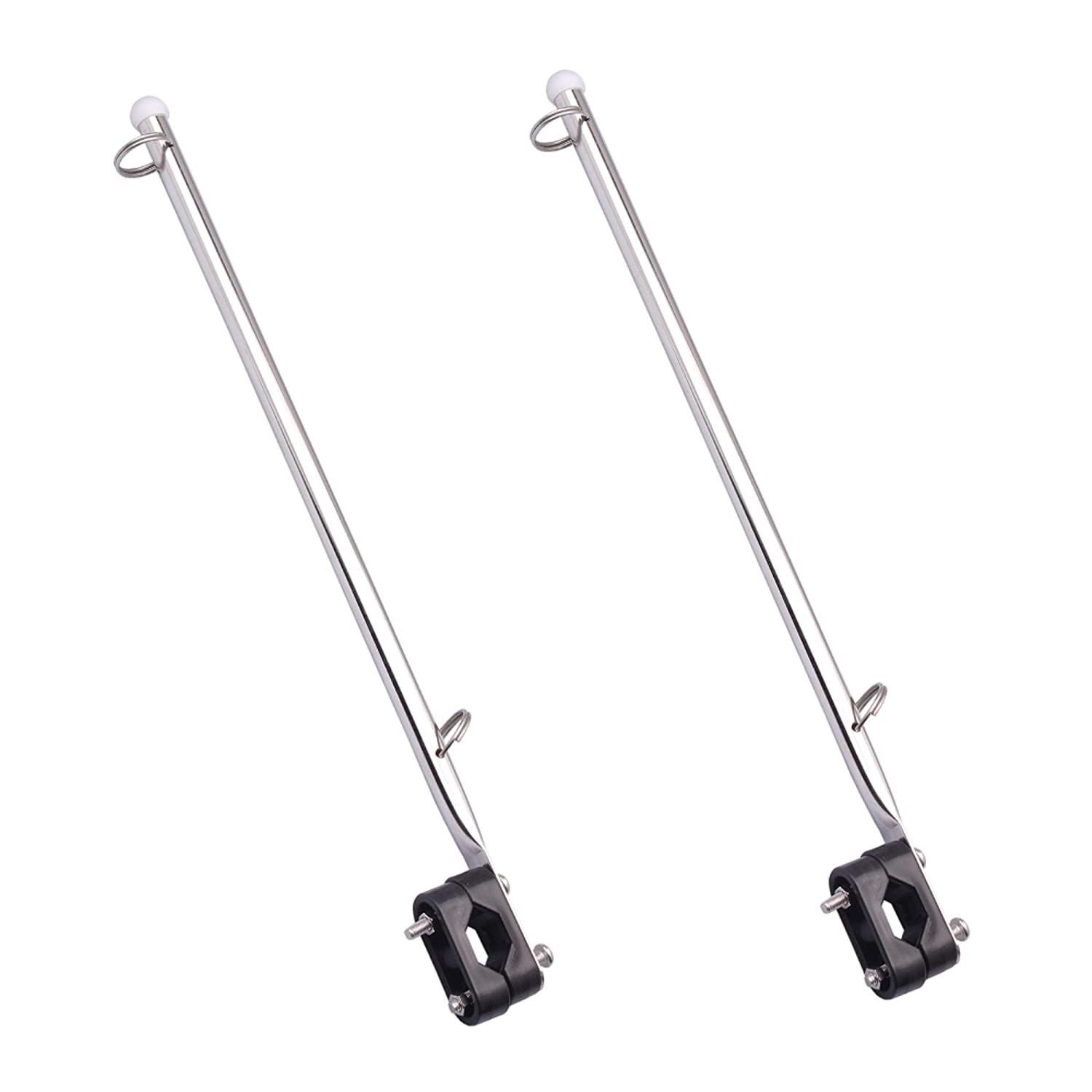 Nextracter Boat Flag Holder Accessories Flags Marine Grade Stainless Steel for Boat Yacht, Water Sports, Marine Flag Pole Pack of 2