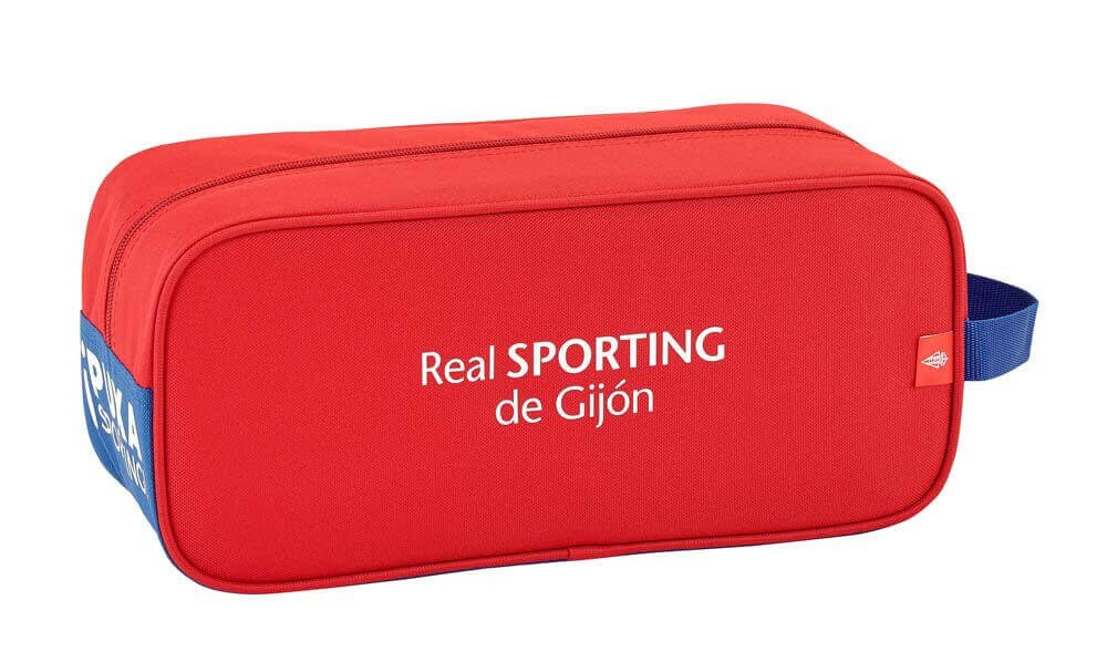 Safta Zapatillero Real Sporting De Gijon Oficial Zapatillero Mediano 340x140x150mm: Amazon.es: Equipaje
