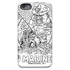 iphone 5c Hot cell phone carrying cases Awesome Look Shock Absorbing marines bulldog