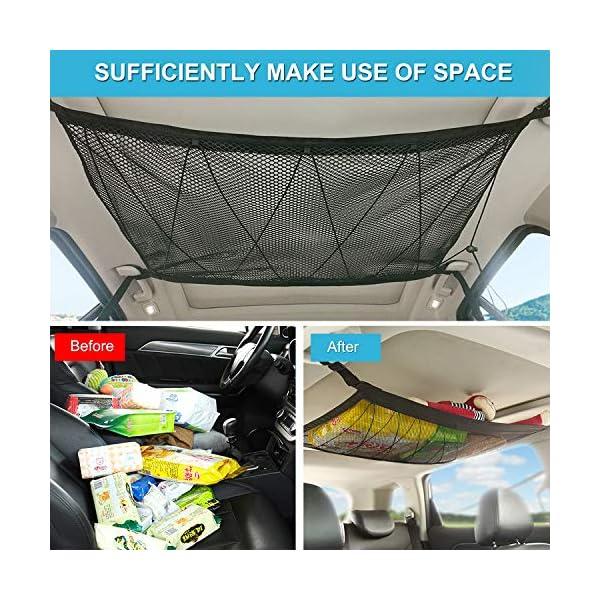 Car Interior Ceiling Cargo Net Storage