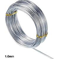 VENTDOUCE - Alambre de Aluminio Plateado para Manualidades