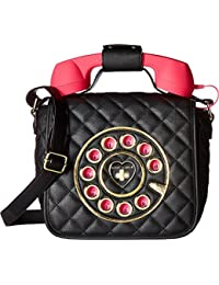 Women's Quilted Phone Crossbody Black One Size