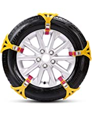 TOPmountain - Car Security Chains,SUVs Snow Tire Chains,Emergency Anti-Slip Car Cables for Trucks Pickups and Most Cars