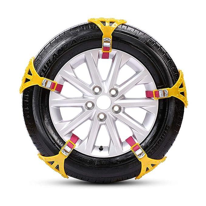 TOPmountain - Cadena de Nieve Cinturón para neumáticos de Nieve Ruedas Antideslizantes universales duraderas Rueda Instalación fácil: Amazon.es: Coche y ...